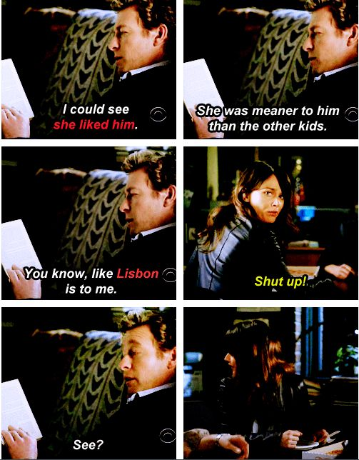 I love this part so much! Explains Jisbon in one scene.