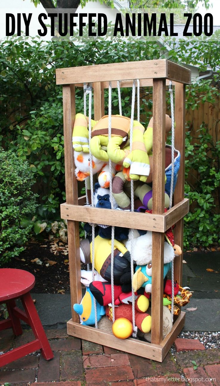 Build a DIY Stuffed Animal Zoo Tower | Free and Easy DIY Project and Furniture Plans