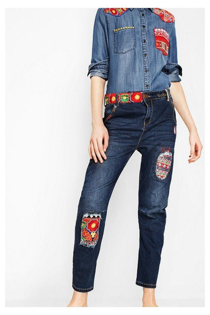 Jeans blu scuro - New Exotic Boyfriend | Desigual.com B