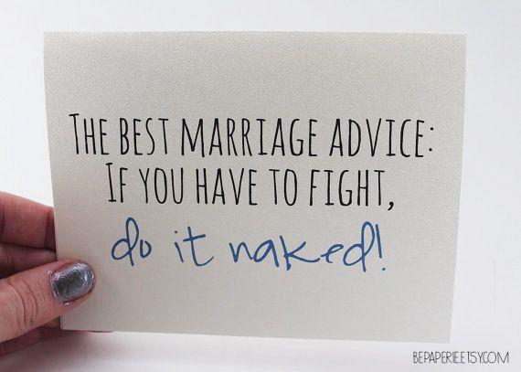 Wedding Card Marriage Advice Card Funny Card Engagement Card