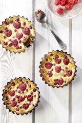 Recept » Colruyt Culinair: Frambozentaartjes met aalbessen en stevia