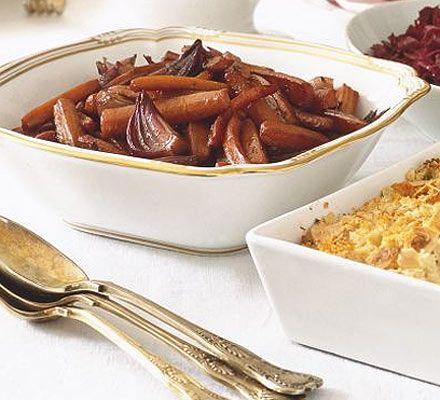The perfect caramelised carrots to accompany any roast - try them alongside your Christmas turkey