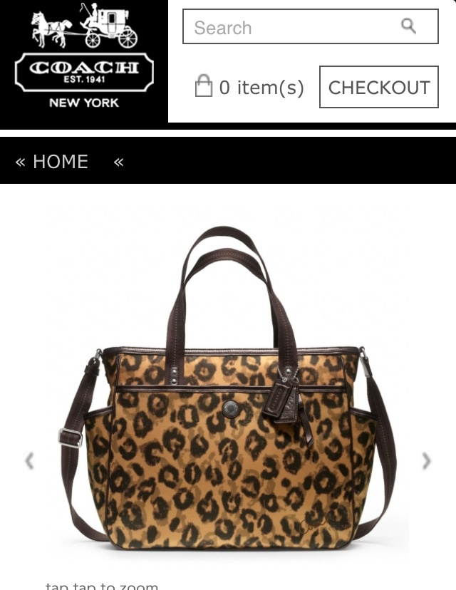 They Made A Leopard Coach Diaper Bag I Am Soooooo Getting This Baby Stuff Pinterest Diapers And Leopards