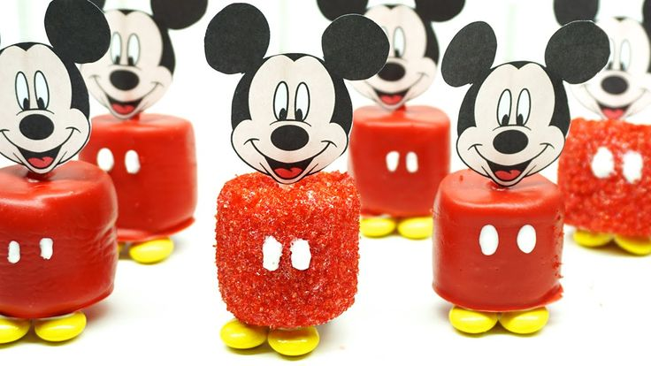 HOW TO MAKE DISNEY MICKEY MOUSE MARSHMALLOW POPS EASY TUTORIAL