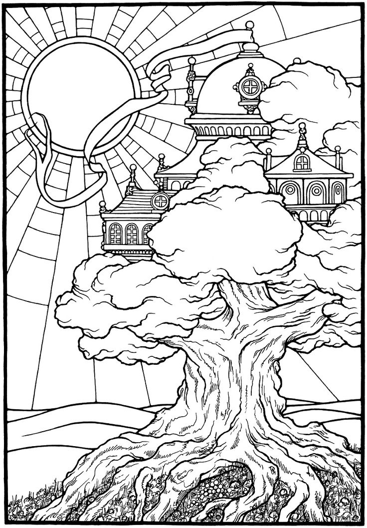 Tree Castle From The Coloring Book EQUINOX