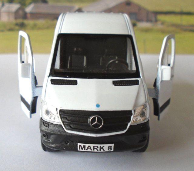 PERSONALISED PLATES White Mercedes Benz Sprinter Van Toy/Model
