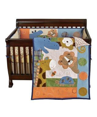 Wild animal baby quilt