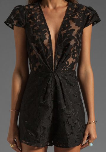 Lace Playsuit- doubt I could ever pull this off, but it looks cute on her