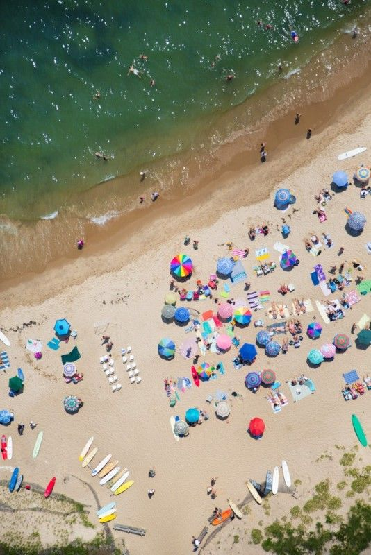 Montauk Point Beach Vertical // Gray Malin