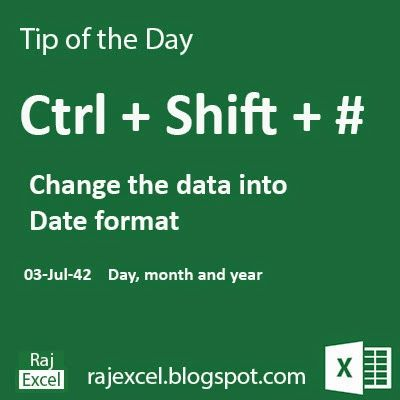 Learn Microsoft Excel: Tips of the Day Using Ctrl + Shift # (Shortcut Key)…