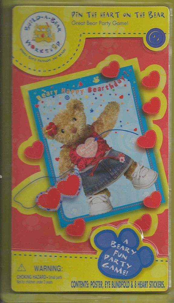 """Build-A-Bear Workshop """"Pin the Heart on the Bear"""" Game #NotApplicable"""