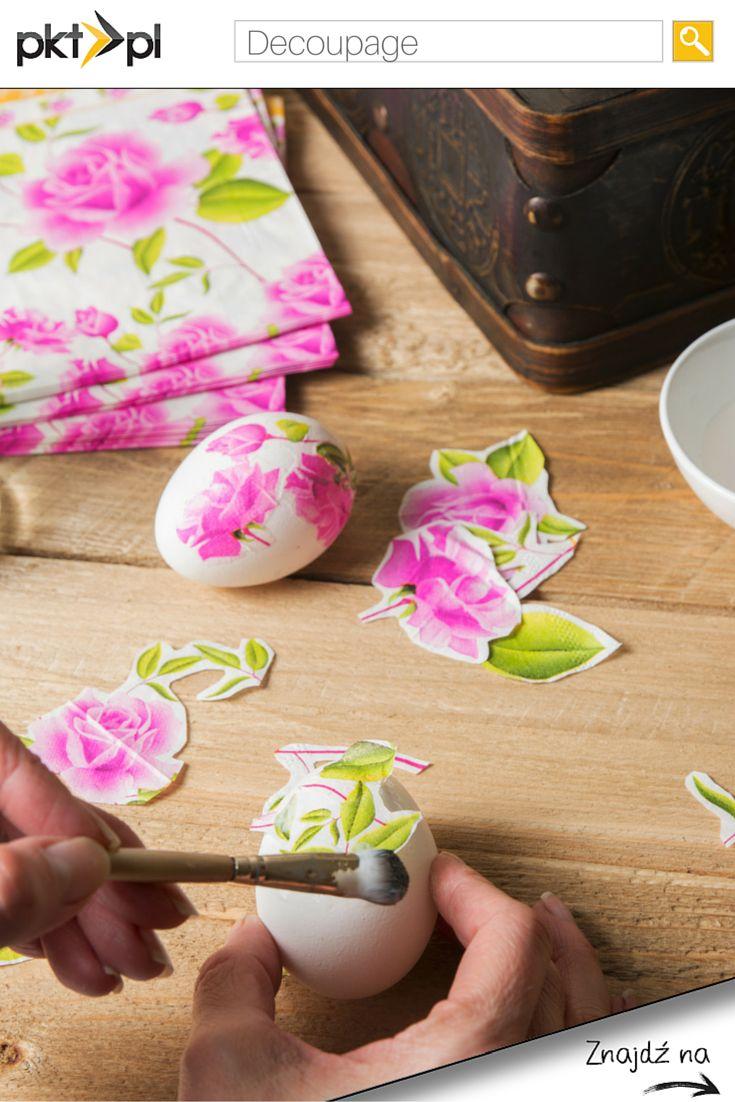 Jaką metodą zdobicie #pisanki? My polecamy #decoupage. :) #Wielkanoc #Easter