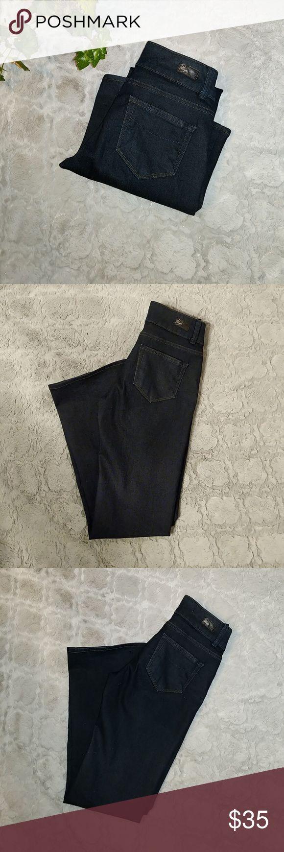 """Paige Hidden Hills Bootcuff Jeans Paige premium Denim Jeans 80% cotton 19% poly 1% Spandex approimate 26"""" waist, 8 /"""" rise, 28"""" length 9"""" cuff. PAIGE Jeans Boot Cut"""