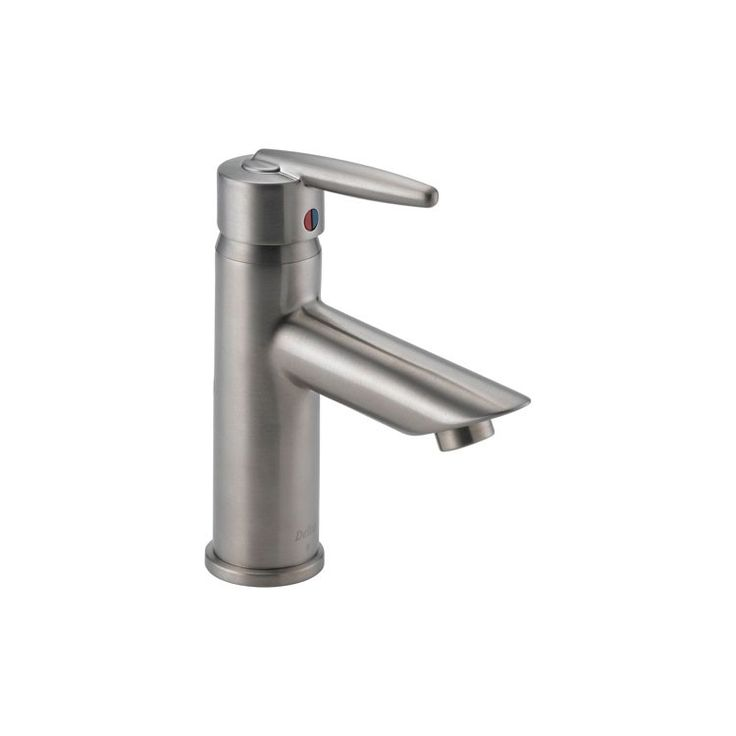 Awesome Delta Grail Single Hole Mid Arc Bathroom Faucet Less Pop Up Drain In   The Home  Depot