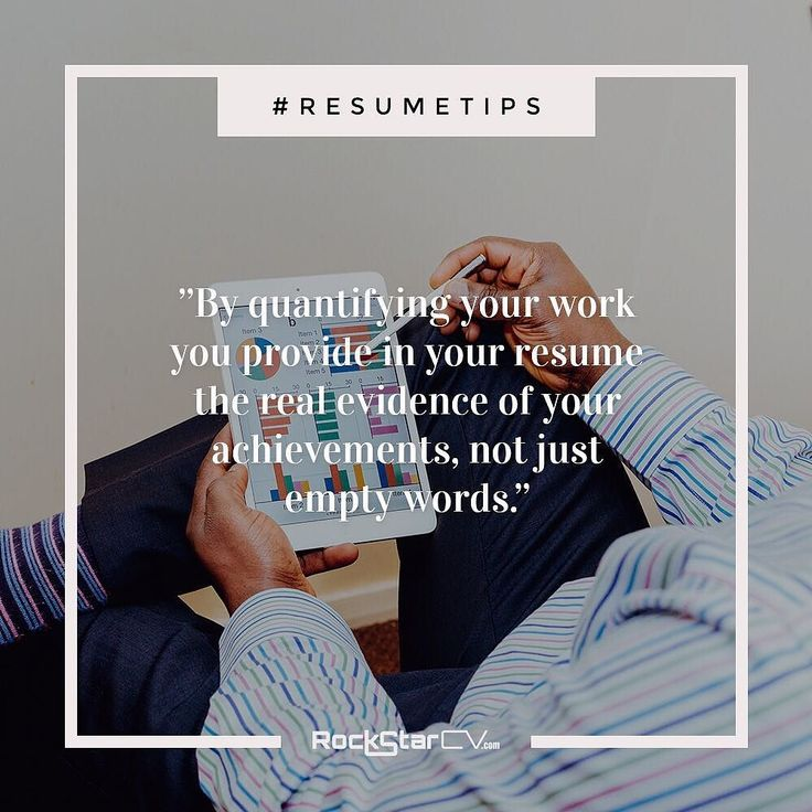 Always quantify your work  Lets face it  numbers sell. #Numbers #statistics #percentages  they always get the attention. Be sure to always answer in your resume quantifiable questions such as: What budget did you managed?; How many subscribers did your campaign gained?; How much revenue did you brought? and so on.  By quantifying your #work you provide in your #resume the real evidence of your achievements not just empty words.  Heres what Im talking about:  Weak: Managed a large #team of #sale