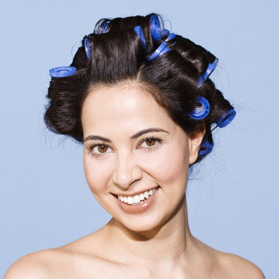 I love hot rollers for date night. Gets your hair out of your way when you're doing your makeup and if your hair's in hot rollers, you really don't have to do much more. Even if it falls, it looks sweet and sexy.