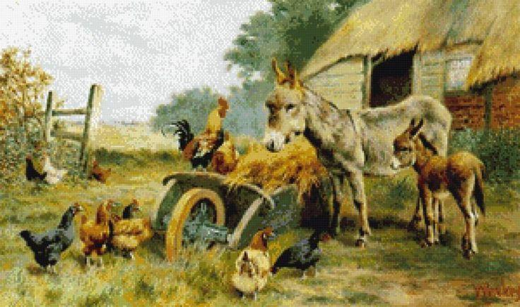 на сельском дворе, предпросмотр