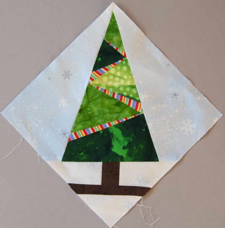 Christmas Tree Paper Piecing Patterns: Nice Christmas Block: Tree With Lights