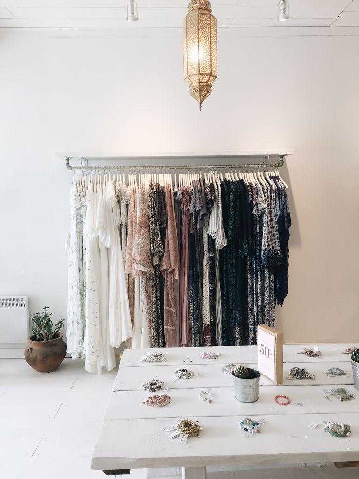 Store display. Boho store. Bohemian boutique