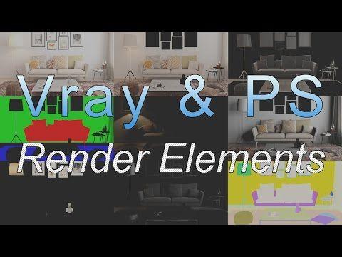 Vray Render Elements Photoshop - YouTube