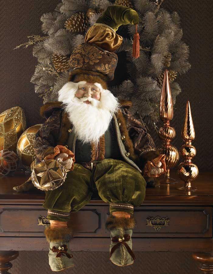 Chubby santa is damask coat/velvet pants
