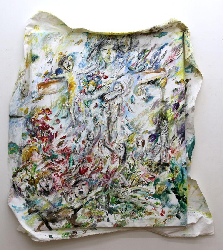 "Shinobu Hanazawa ""Letter"" 2015 oil on canvas 116.7×91cm"