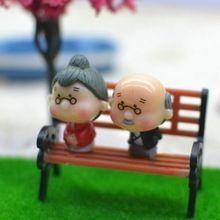Resina Artesanato Modernos Bancos de Parque Em Miniatura Miniaturas Acessórios Pequeno Modelo Em Miniatura Casa Artesanato Decorativo Do Jardim de Fadas(China (Mainland))