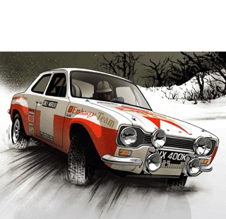 great movement in this rally car illustration