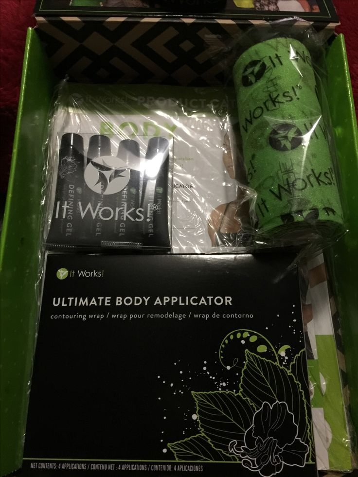 Woohoo, got my ItWorks starter kit in the mail! So excited  Going to get my wrap on and work on that beach body⛱