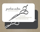 Elegant Name Modern Hair Stylist Business Card  / Mommy Card / Calling Card