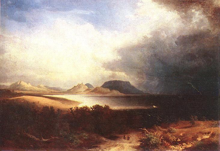 Brodszky Sándor: Kilátás a Balatonra (Vihar a Balatonon) 1851.