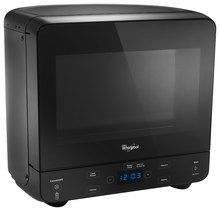 Whirlpool - 0.5 Cu. Ft. Compact Microwave - Black