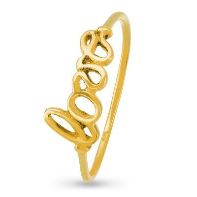 Pierścionek z kolekcji TRENDY. spodoba się osobom lubiącym ozdoby nowoczesne i symboliczne. Złoty pierścionek idealnie nadaje się na prezent dla ukochanej osoby.