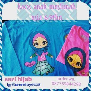 Kaos anak muslim Usia 6-9thn  Uk badan standart wa.line 087759844298