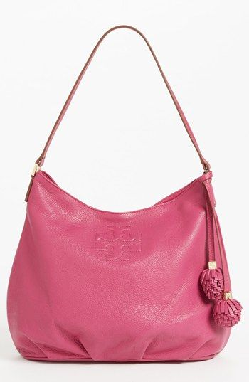 Tory Burch 'Thea' Leather Hobo available at #Nordstrom