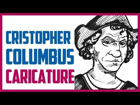 CHRISTOPHER COLUMBUS CARICATURE | Speed drawing a caricature of Christopher Columbus - YouTube