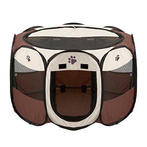 Foldable Dog Cat Playpen Yard Security Kennel Mesh Shade ... https://www.amazon.com/dp/B06X185KNQ/ref=cm_sw_r_pi_dp_x_ByaYyb6EFC6YA