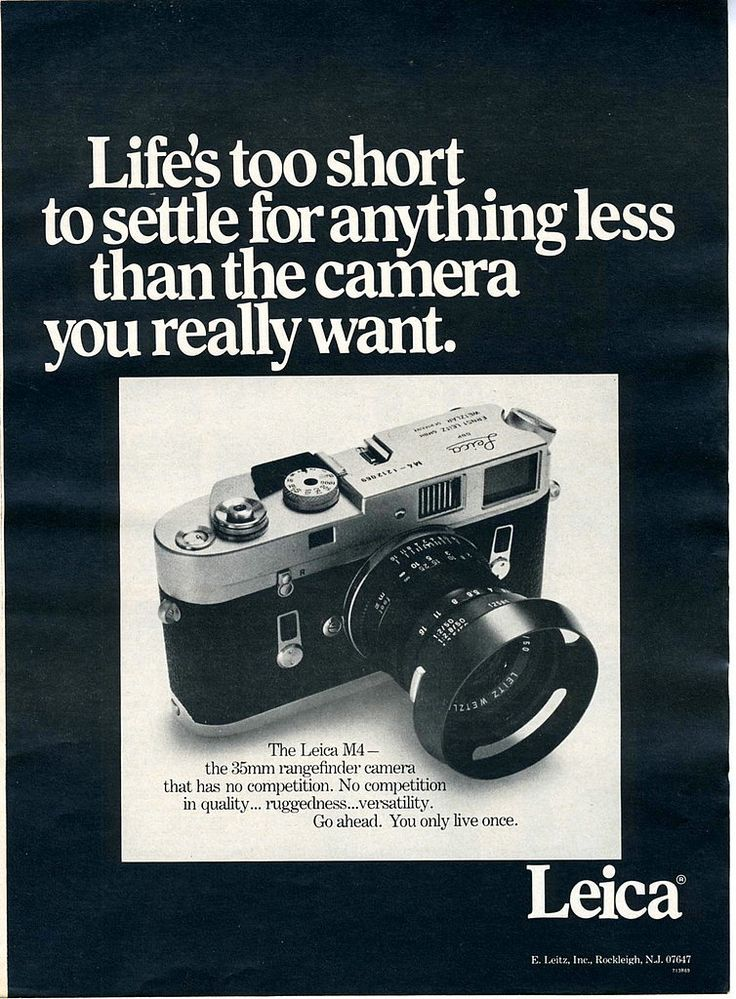 Leica! 23 Vintage Camera Ads That Put Instagram to Shame – ReadWrite