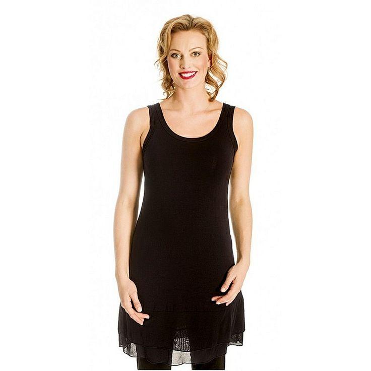 Black Mesh Slip ~ Best selection of Tunics & matching accessories ~ Flat postage worldwide ~ Petite to Plus sizes ~ www.ilovetunics.com