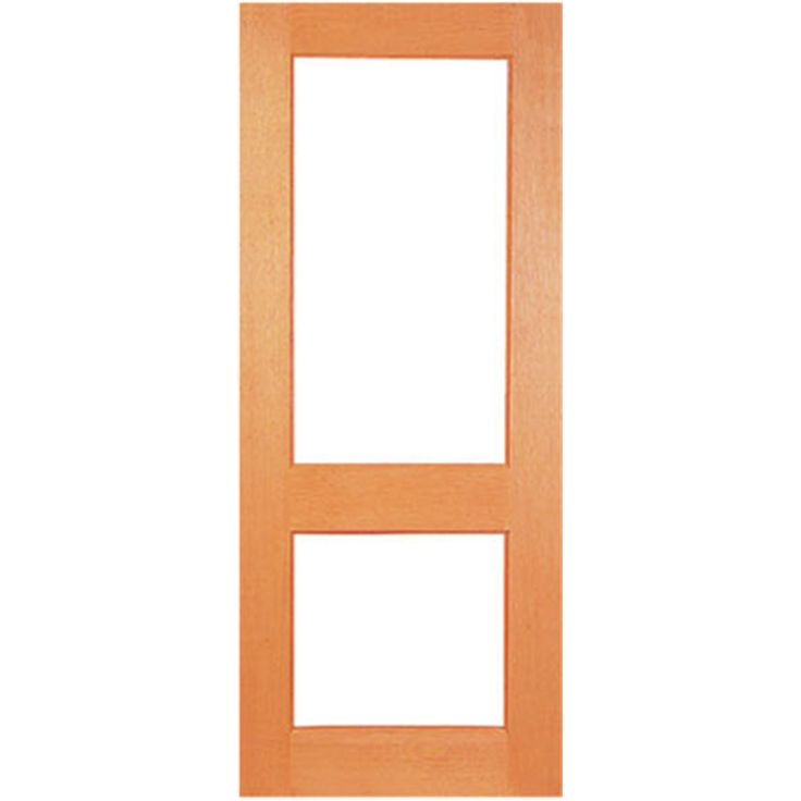Woodcraft 2040 x 820 x 40mm Two Lite Clear Safety Glass Entrance Door I/N 1960006   Bunnings Warehouse