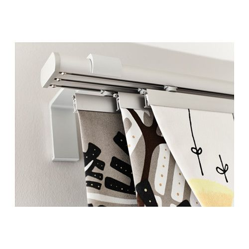 IKEA - KVARTAL, Triple curtain  rail, Easy to create a layered solution since the rail has three tracks.</t><t>You can use the included connectors to connect the rail to ceiling or wall fixtures, or to another rail to extend it.</t><t>Can be cut to desired length with KVARTAL miter box and saw.