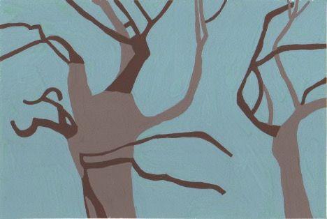 冬の木立。
