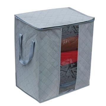 5$ - Hotsale  Bamboo charcoal clothes storage bag 65 L sweater pocket transparent inspection receive storage box ST0005-in Storage Boxes & Bins f...