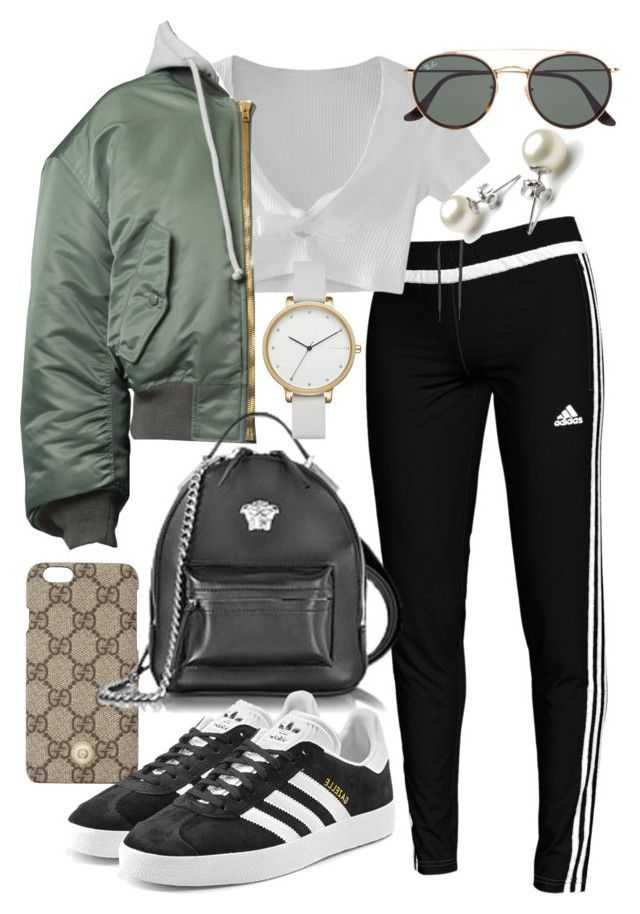 """Untitled #22071"" by florencia95 ❤ liked on Polyvore featuring adidas, Gucci, WithChic, Vetements, Versace, adidas Originals, Ray-Ban and Skagen"