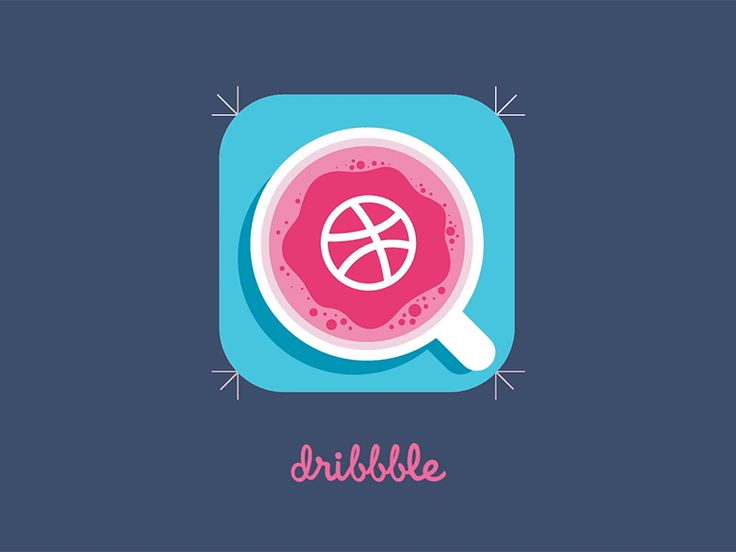 Cup of dribbble animation by Egor Kosten