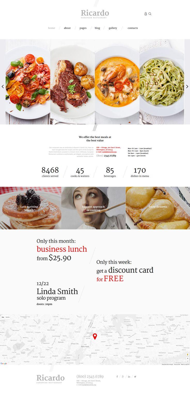 European Restaurant Joomla Theme http://www.templatemonster.com/joomla-templates/57574.html