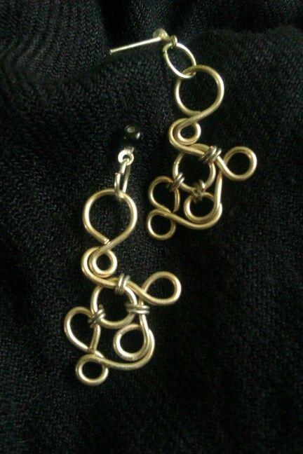 Wire earrings / Plecione kolczyki