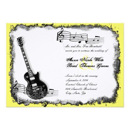 Guitar Wedding Songs: 17 Best Ideas About Music Wedding Invitations On Pinterest