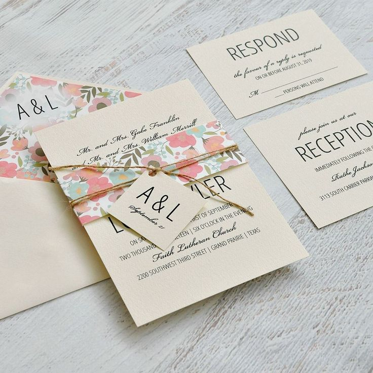Pretty Floral Invitation 887 best Wedding