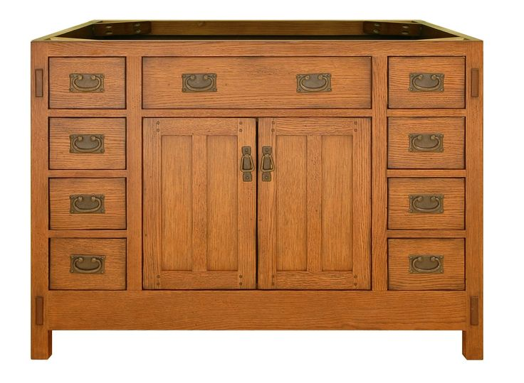 Features:  -American Craftsman collection.  -Comes with 2 doors and 8 drawers.  -Material: Oak solids and veneers.  -Finish: Hand-applied rich amber (lightly distressed).  -Drawers with english doveta